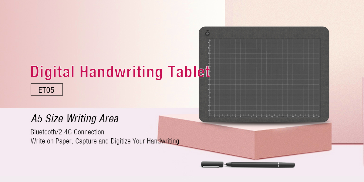 Ugee-Best A5 Size Bluetooth Digital Handwriting Pad For Pc Paper Tablet