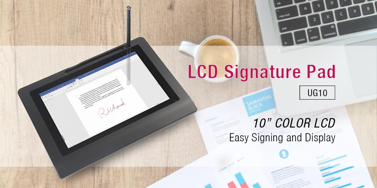 Ugee-10 Display Paperless Passive Electromagnetic Digital Signature Pad
