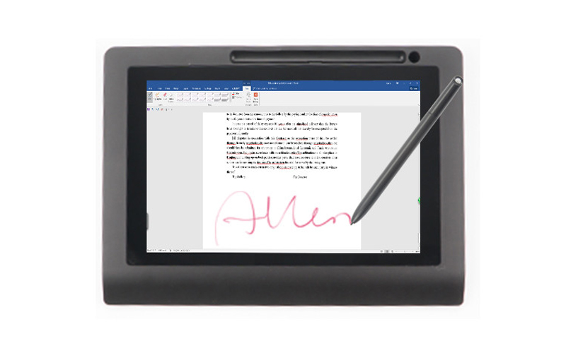 Ugee-10 Display Paperless Passive Electromagnetic Digital Signature Pad-2