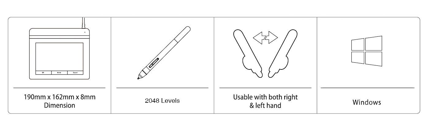 Ugee-Best A4 Size Portfolio of Paper Best Digital Handwriting Pad-5