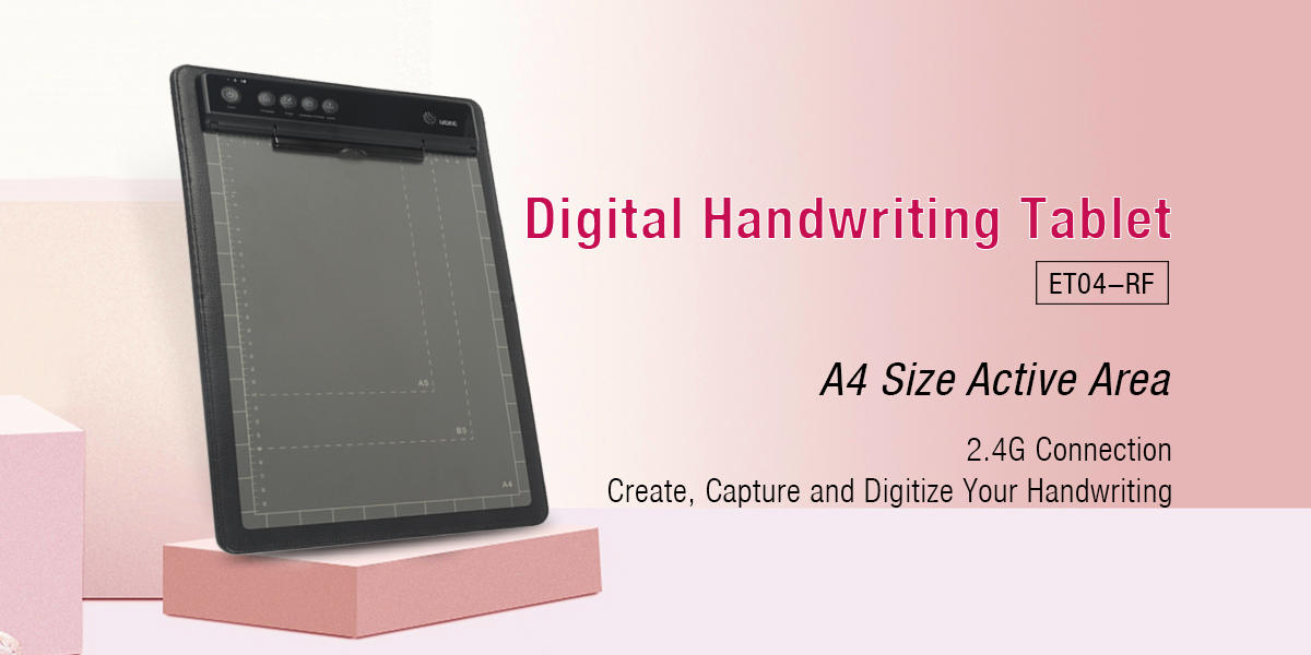Ugee-A4 Size Portfolio Paper Handwriting Tablet Smart Writing Pad Rf Connection