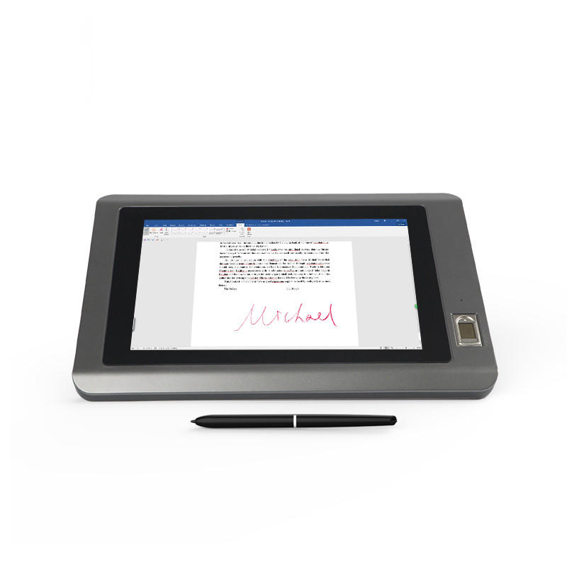 10.1 inch Digital LCD Signature Pad with Fingerprint Identification UG101F