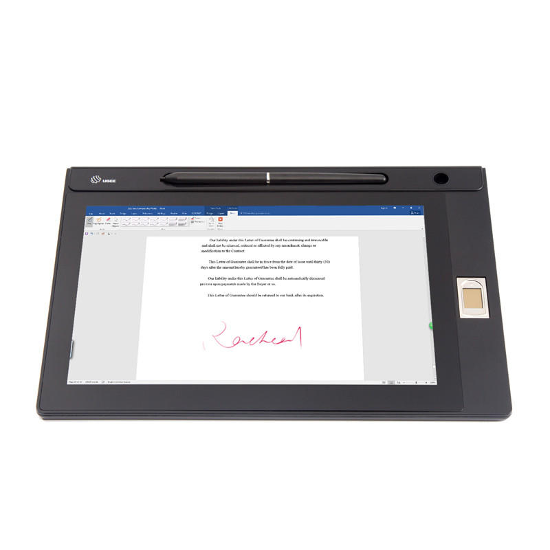 10.1 inch IPS Screen Signature LCD Tablet with Fingerprint UG101T