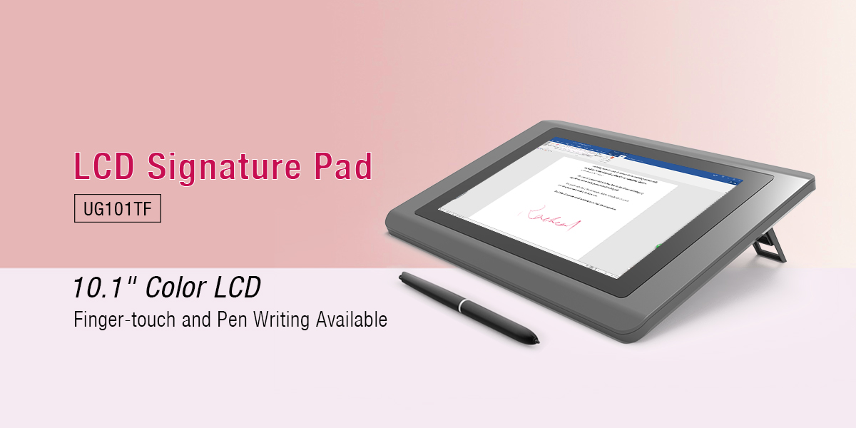 Ugee-101 Inch Color Lcd Signature Pad Ug101tf | React Signature