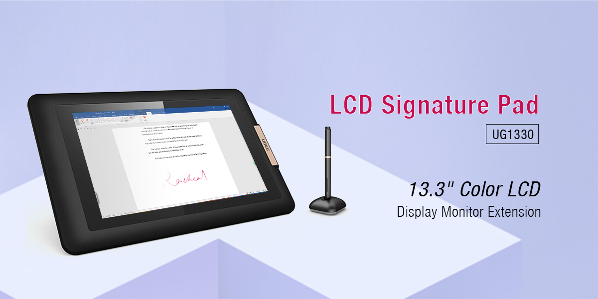 Ugee-133 Inch Ips Screen Electronic Signature Pad Ug1330 | Electronic