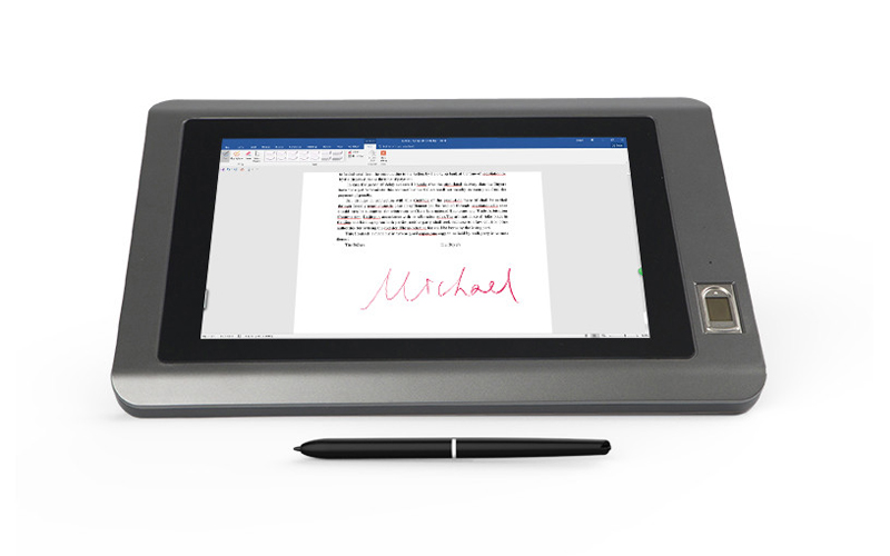 Ugee-101 Inch Electronic Signature Pad With Fingerprint Identification-2