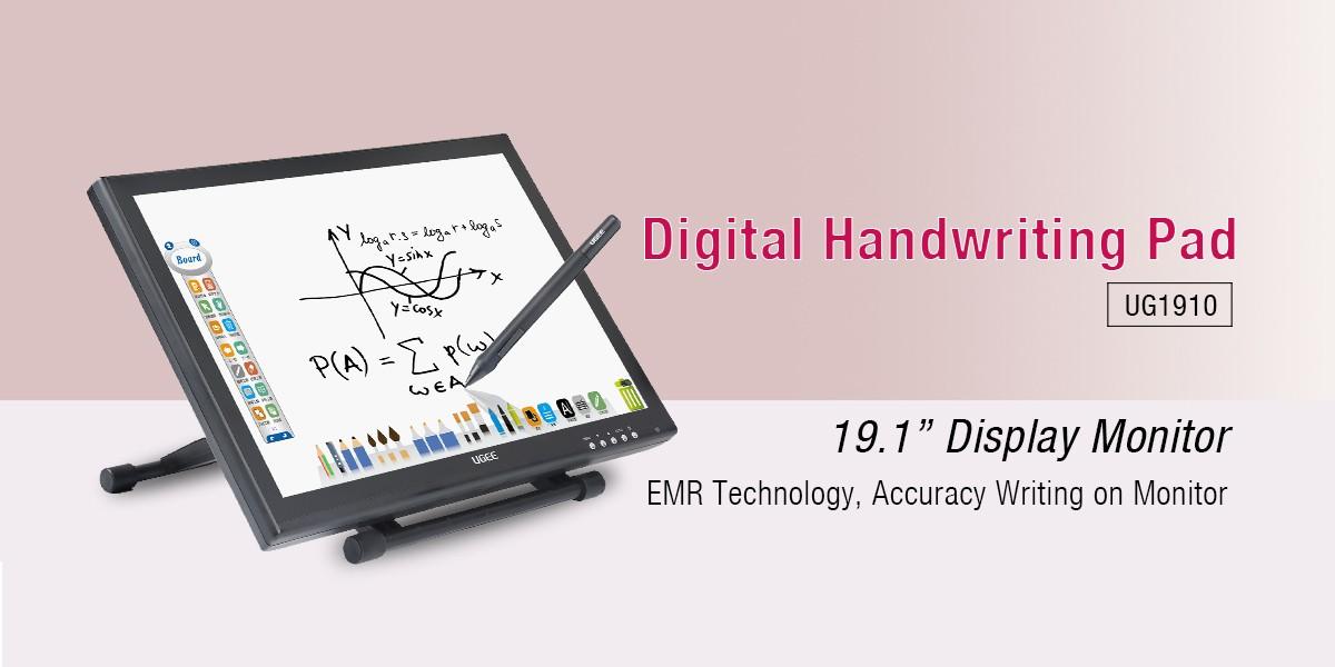 Ugee-191 Inch Ips Lcd Screen Digital Handwriting Tablet Monitor Ug1910