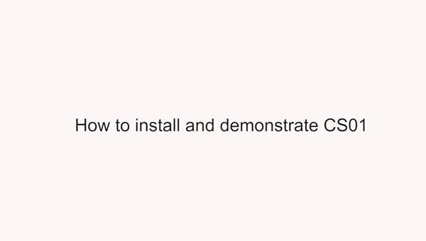Installation of CS01 USB Connection Smart Writing Set