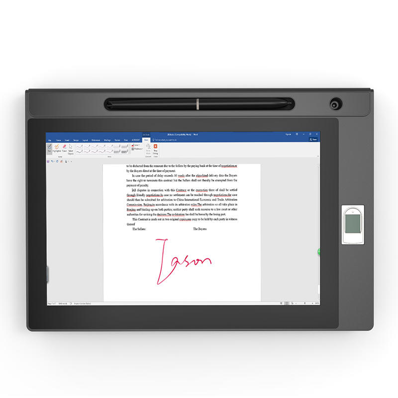 10.1 inch Electronic Signature Pad with Fingerprint Identification UG101pro