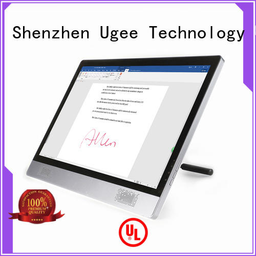 sign pad inch passive display Ugee Brand company
