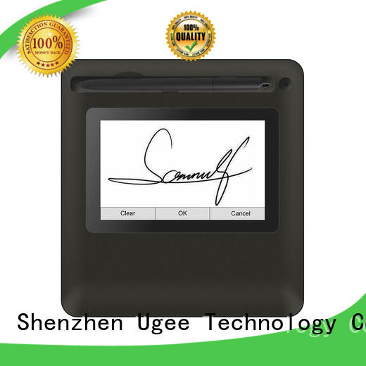 Ugee best biometric signature pad supplier for commercial activity