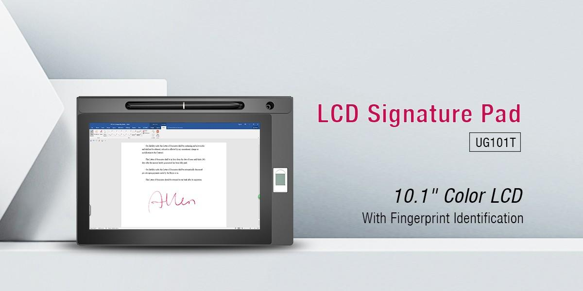 Ugee-101 Inch Ips Screen Signature Lcd Tablet With Fingerprint Ug101t | Electronic