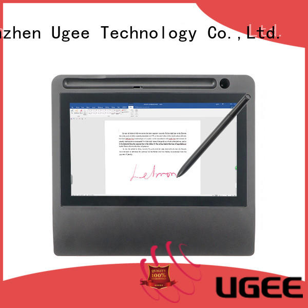 Ugee highlights digital signature pad factory price for meeting